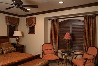 Indoor Bedroom Shutters and Wood Blinds