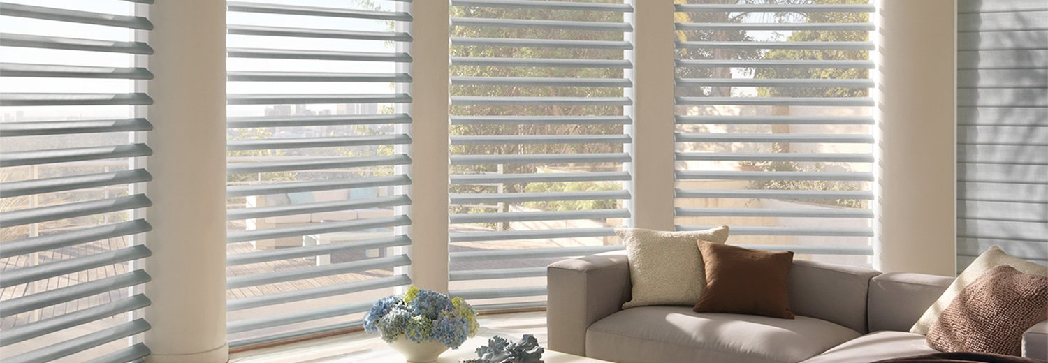 Living Room lovely Blinds Installed by Benjamin Draperies