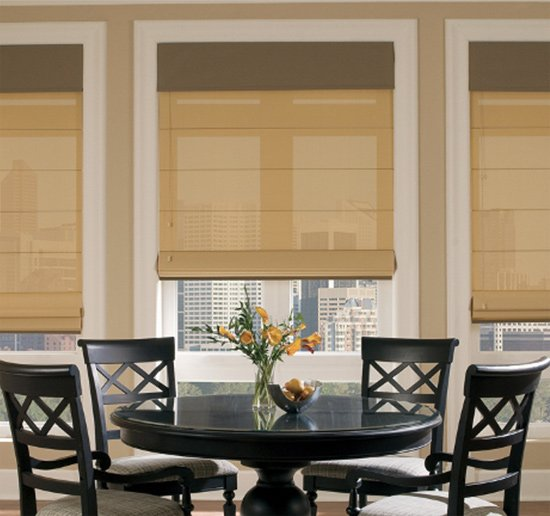 Beautifully installed Shades by Benjamin Draperies