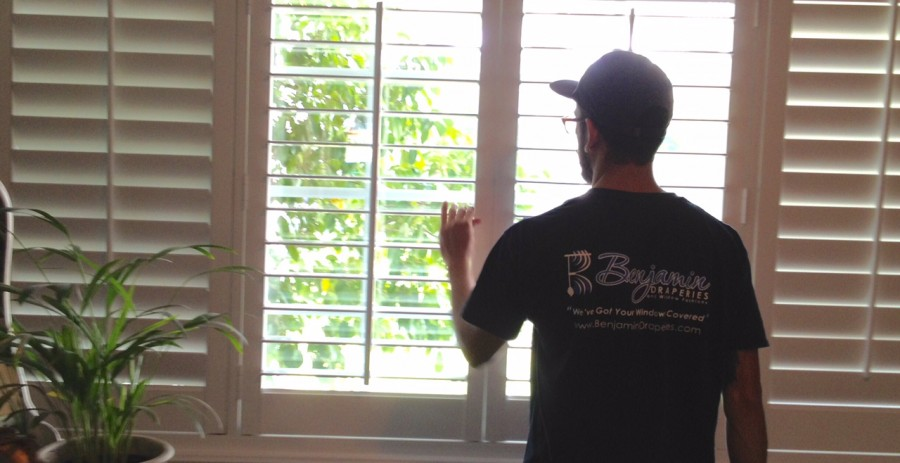 Custom Shutters Installed by Benjamin Draperies