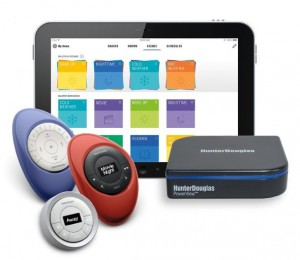 PowerView Motorization system complete with remotes and tablet app