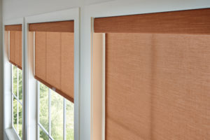 Close up of roller shades