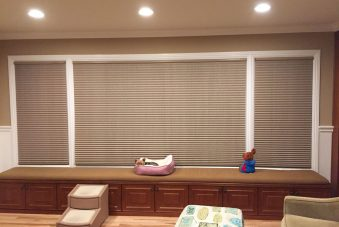 Cellular Shades in Family Room