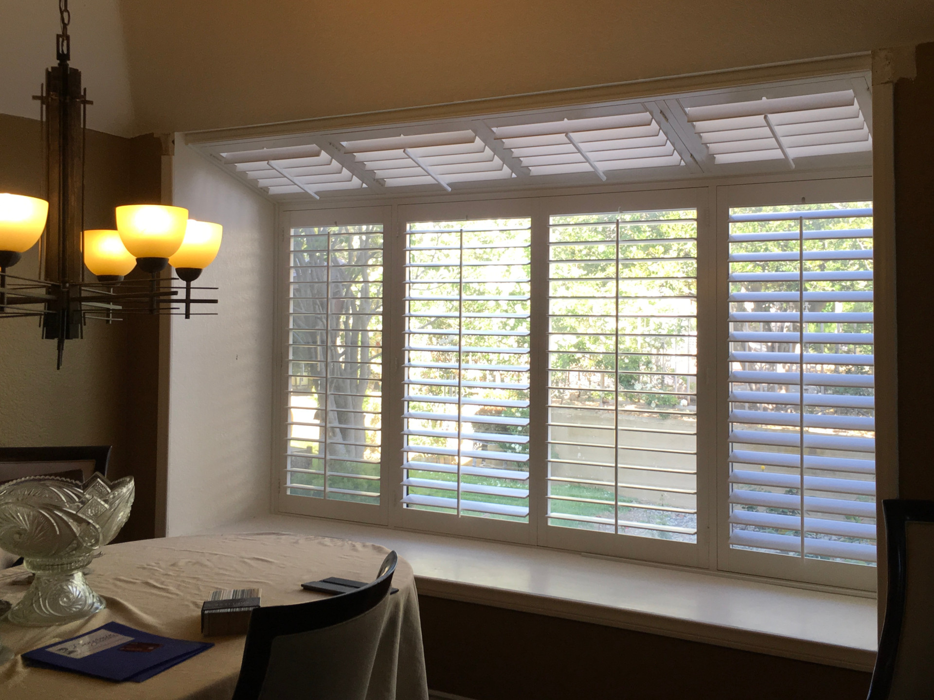 Wood Shutters Bay Window Benjamin Draperies