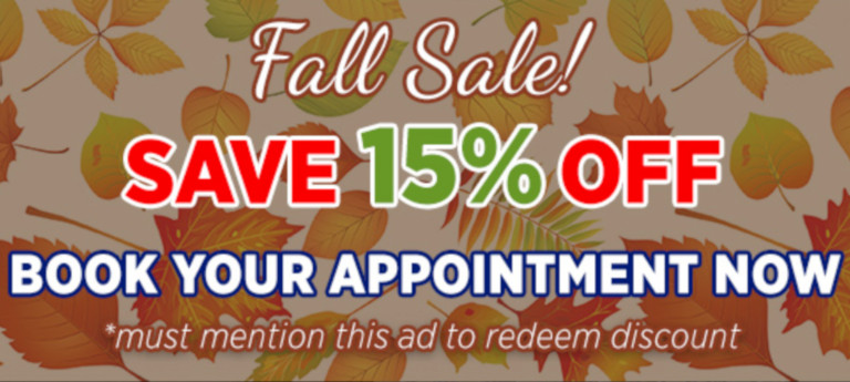 Fall Sale - Save 15% Off
